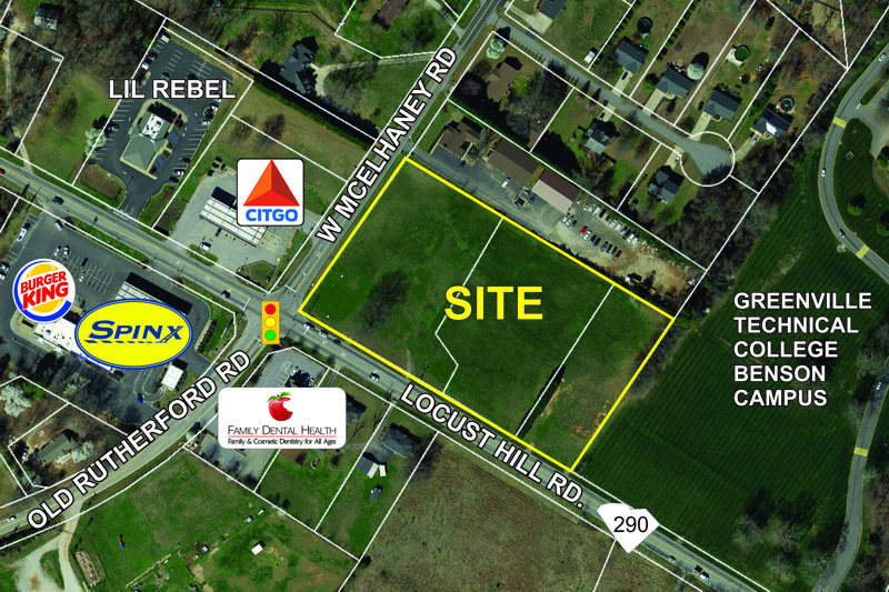 Property at the corner of Locust Hill and W. McElhaney sold