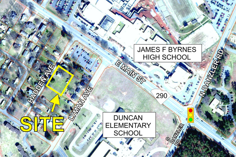 Residential lot near Byrnes High School sold