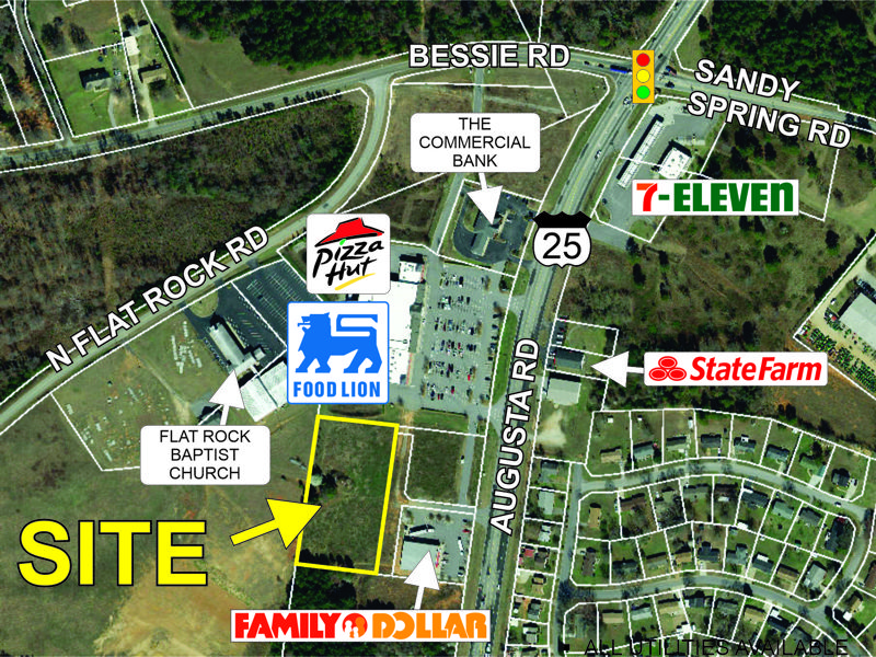 2.2+- acre parcel on Hwy 25 sold