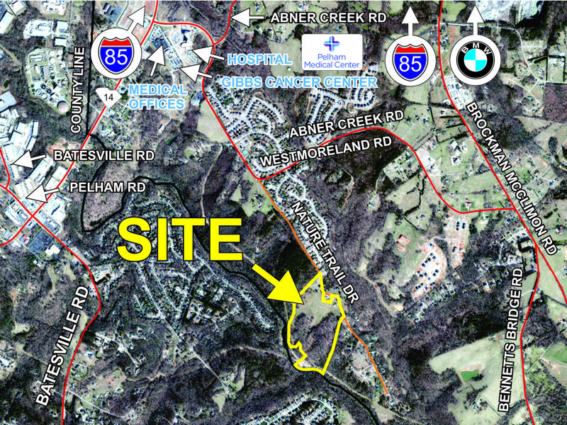 36 acres sold on Nature Tail Drive in Greer